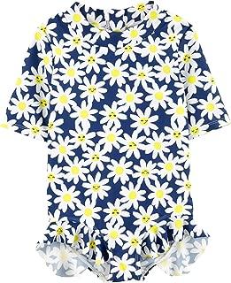 Carter's Daisy Floral One Piece Rashguard Swimsuit