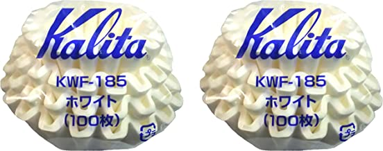 Kalita Wave Series Wave Filter KWF-185 Set of 2 2-4 Persons White 100 Pieces #22212 New Model