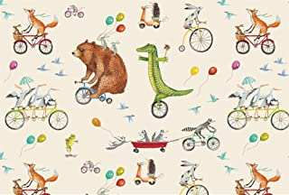 Hester & Cook Nice Wheels Paper Placemats, Pad of 24