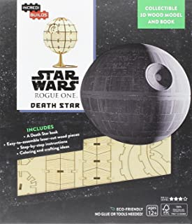 Insight Editions Incredibuilds Star Wars Rogue One Death Star 3D Wood Model and Book Craft Kit