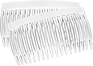France Luxe 18 Tooth French Side Comb Pair - Clear