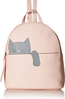 T-Shirt & Jeans Hanging Cat Backpack in Blush