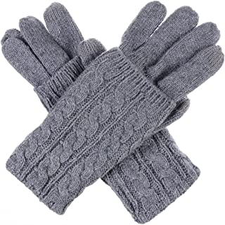 Womens Winter Cable Knit Texting Gloves for All Touchscreen Devices Smartphone Tablet