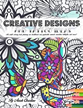 Creative Designs and Tattoo Ideas: An adult coloring book featuring neo-traditional and psychedelic animals, mandalas, butterflies, and more!
