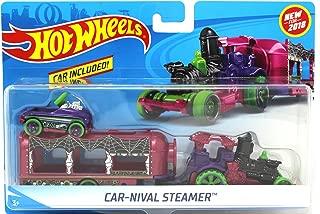 Hot Wheels 2018 Halloween Spooky Car-Nival Steamer Vehicle w/ Detachable Trailer & Pedal Car