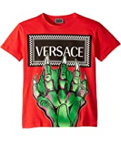 Versace Kids - Monster Hand Logo Tee (Big Kids)