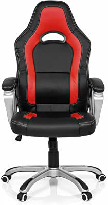 MyBuero Silla Gaming Gaming Zone Pro AB100 Piel sintética Negro/Rojo Silla de Oficina 722090