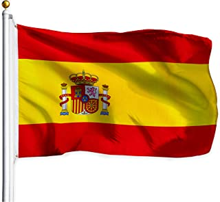 Best G128 – Spain (Spanish) Flag   3x5 feet   Printed – Vibrant Colors, Brass Grommets, Quality Polyester Review