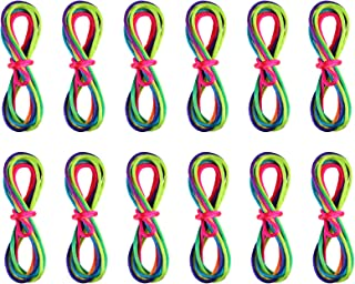 Anpro 12PCS Rainbow Colored String Game, Finger Game, Skill Game, Rainbow Multicoloured