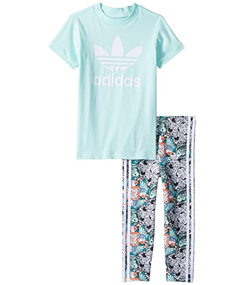 adidas Originals Kids Zoo Tee Leggings Set (Infant Toddler) at ... 443fd3092ea4