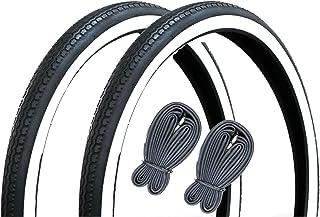 自転車用タイヤ タ・チペア仕様 白/黒 22×1-3/8 WO タイヤ2本チューブ2本