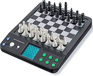 Voice Master, 8 Electronic Board Games, Chess, Checkers, Reversi for Single or Double Player- Play with Computer or a Partner, Learn to Play Chess Like a Pro with the Chess Tutor