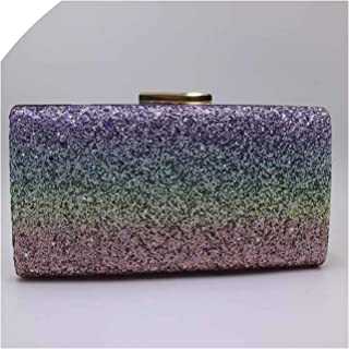 Rainbow Sequin Box Clutch Bags Evening Bags And Clutches For Womens-In Top