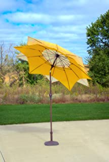 ea00be50c0b24 Pebble Lane Living Wind Resistant Lotus Flower Design 8' Patio Market  Umbrella with Crank and