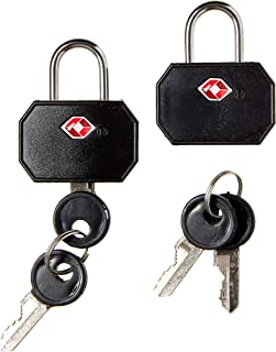 Lewis N. Clark Travel Sentry TSA Lock + Mini Padlock for Luggage Suitcase, Carry On, BackPack, Laptop Bag or Purse - Perfe...