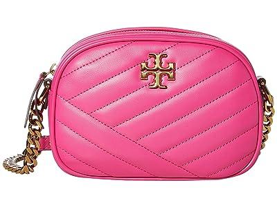 Tory Burch Kira Chevron Small Camera Bag (Crazy Pink) Handbags
