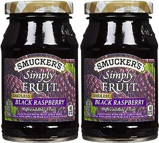 Smucker's Seedless Black Raspberry Simply Fruit Spread (2 Pack) 10 oz Jars