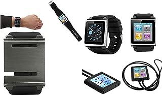 PiGGyB EZ Snap Watch Band Necklace Case Cover for Apple iPod Nano 6 6th Generation (Black Black)