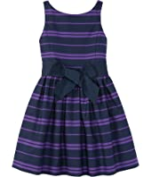 Polo Ralph Lauren Kids - Cotton Sateen Fit and Flare Dress (Toddler)