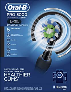Oral-B Pro 5000 Smartseries Electric Toothbrush With Bluetooth Connectivity, Black Edition (Powered By Braun)