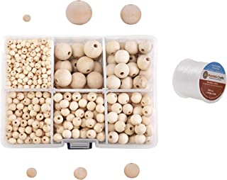 25X Pieces White Wooden Beads 16x15mm Round DIY Craft Macrame Wood Bead