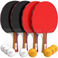 NIBIRU SPORT Ping Pong Paddle Set (4-Player Bundle) with Advanced Speed, Control and Spin