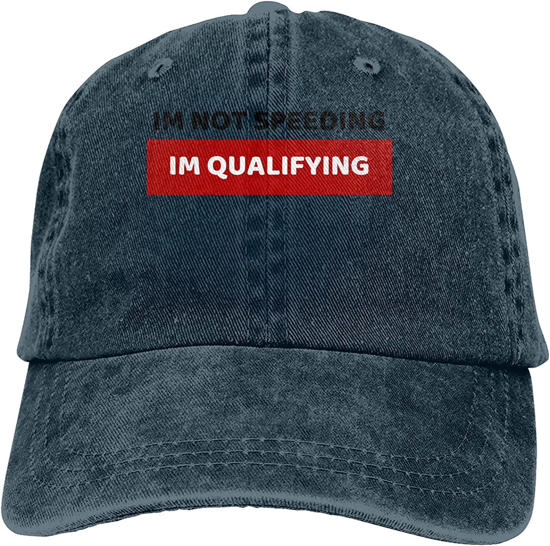 Im Not Speeding Im Qualifying Baseball Cap Trucker Hat Retro Cowboy Dad Hat Classic Adjustable Sports Cap for Men&Women Navy