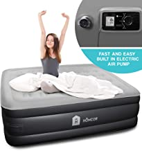 Queen Air Inflatable Mattress for Guest, Self Inflating Air Mattress, Blow Up Camping Air Mattress Queen Bed, Air Bed Mattress Queen with Comfortable Plush Top, Portable Bed for Adults