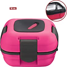 Lunch Box ~ Pinnacle Insulated Leak Proof Lunch Box for Adults and Kids - Thermal Lunch Container with New Heat Release Valve, 16 oz - Pink