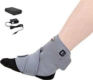 [Portable Battery] Venture Heat Infrared Ankle Heating Pad for Pain Injury Recovery - Heated Wrap Brace for Sprain, Achilles Tendon, Plantar Fasciitis, Arthritis, Joint Pain Relief