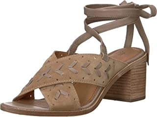 FRYE Wohombres blanco Woven Perf Ankle Strap Heeled Sandal, Beige, 8.5 M US