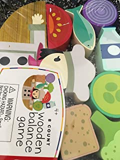 Wooden Balance Game - 8 Piece - Chef Design - Stacking Blocks and Building Balance Game for Kids and Toddlers