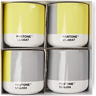 Copenhagen Design PANTONE Thermo Cup Mix Set of 4 (in giftbox) (COY21), One Size