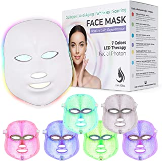 Red Light Therapy LED Face Mask 7 Color | LED Mask Therapy Facial Photon For Healthy Skin Rejuvenation | Collagen, Anti Ag...