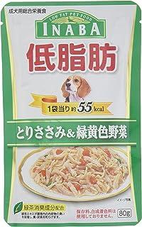 いなば ドッグフード 低脂肪 とりささみ&緑黄色野菜 80g×12個 (まとめ買い)