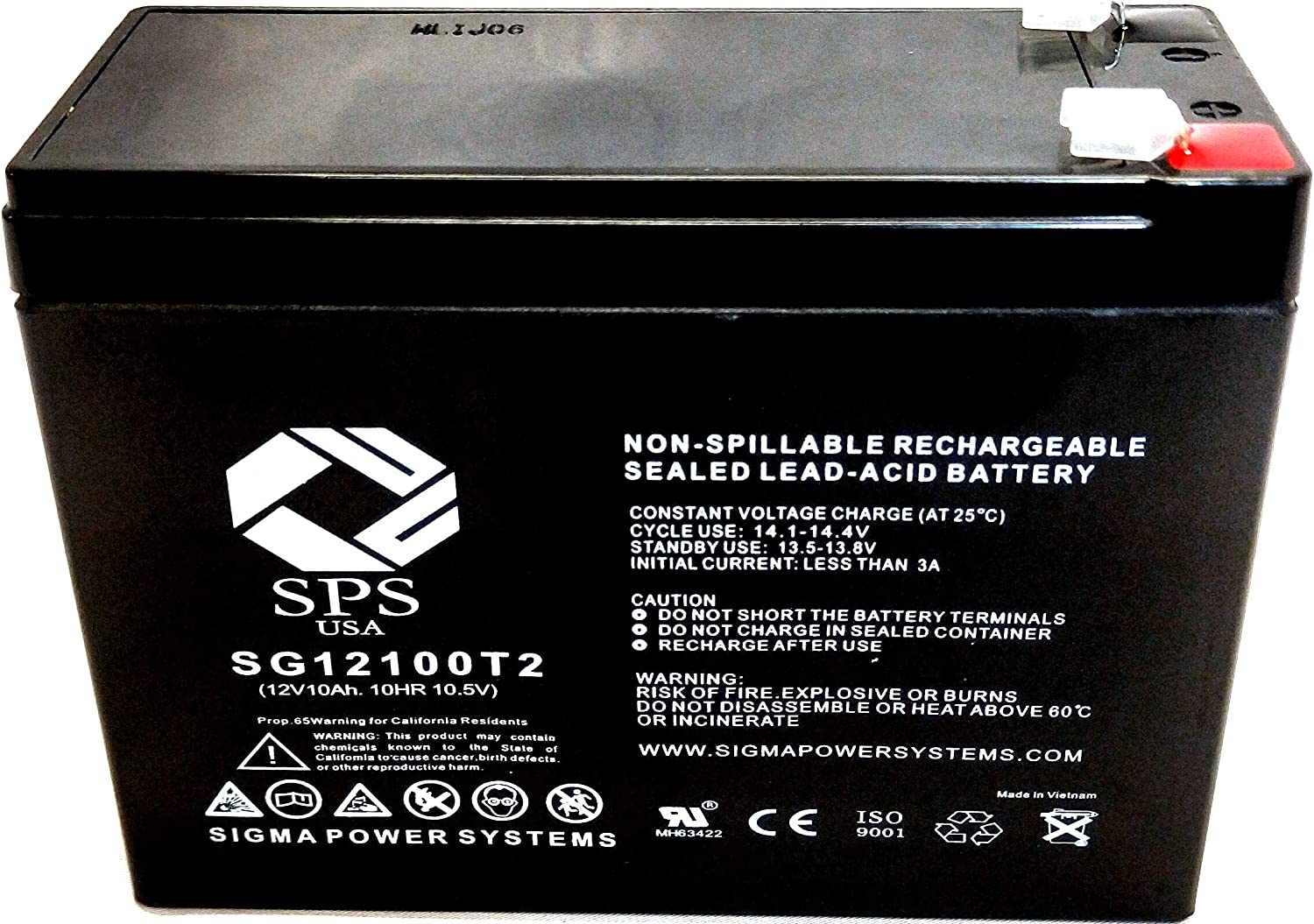 SPS Max 42% OFF Import Brand 12V 10Ah Replacement Battery FP12100A-F FirstPower for