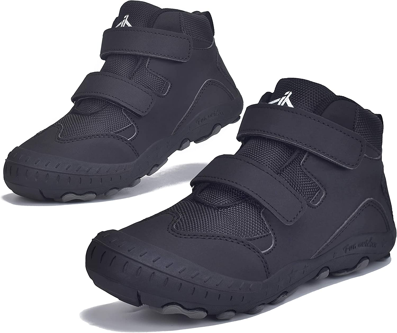 JACKSHIBO Boys Girls Ankle Hiking Boots Kids Outdoor Trekking Shoes Water Resistant Walking Sneakers for Toddler