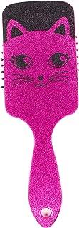 Glittery Detangler Brush for Kids w/Animal Character,  Sparkly Icon Hair Brush (Kitty)