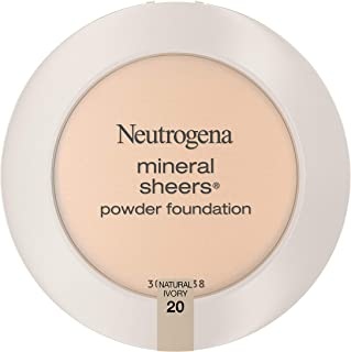 Neutrogena Mineral Sheers Compact Powder Foundation, Lightweight & Oil-Free Mineral Foundation, Fragrance-Free, Natural Iv...
