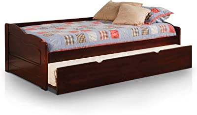 Furniture of America Modal Daybed with Trundle, Dark Cherry