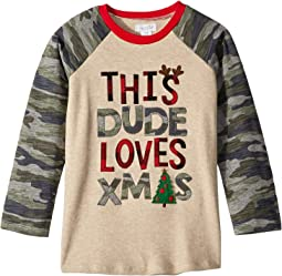 Camo Christmas Long Sleeve Raglan T-Shirt (Infant/Toddler)