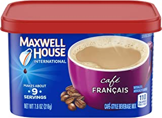 Maxwell House International Cafe Francais Style Instant Coffee (7.6 oz Canisters, Pack of 4)