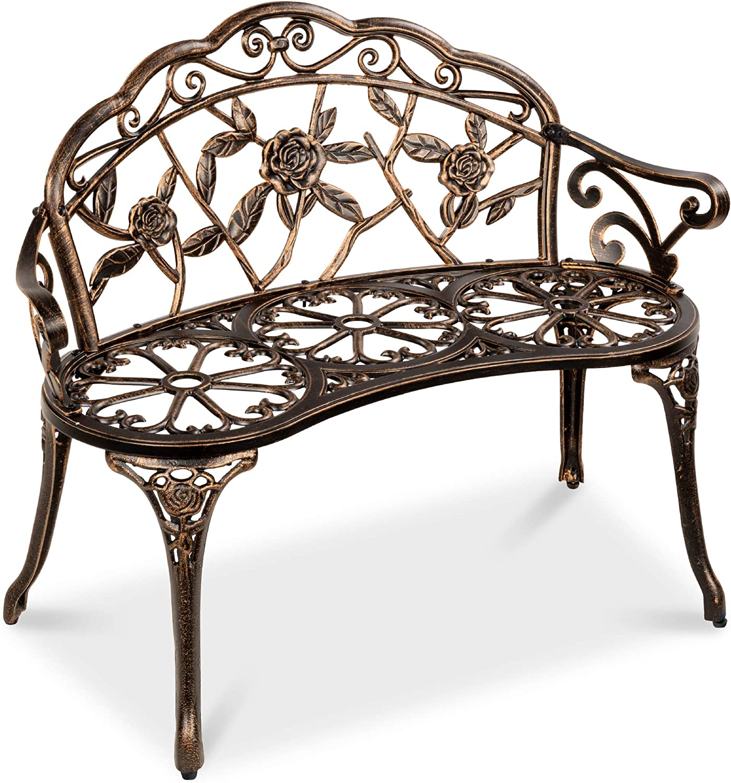 Best Choice Products lowest price Steel Garden Regular store Outdoor Loveseat Bench Furnitu