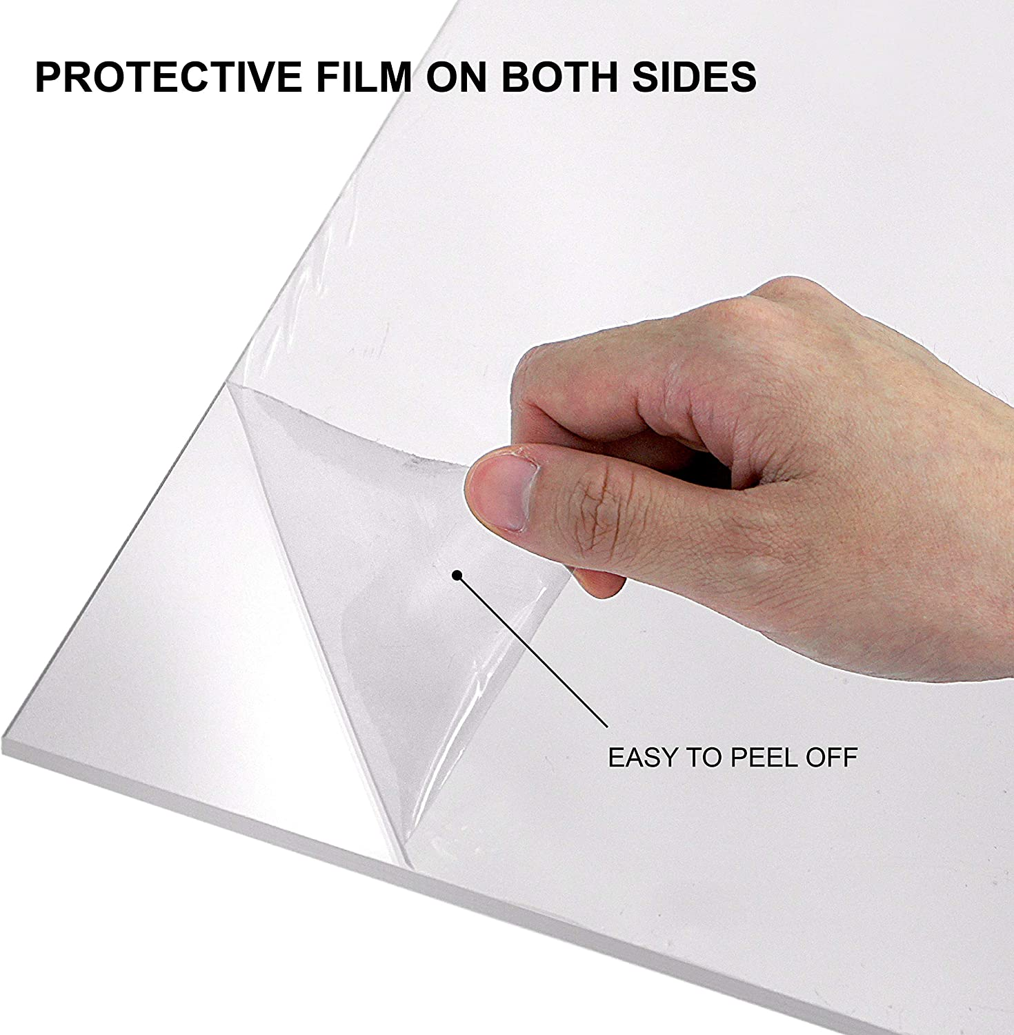 Plexiglass Panel for Craft Projects Amazing Abby 2-Pack Extra-Thick Clear Acrylic Sheet for DIY 1//4, 6mm 12 x 12