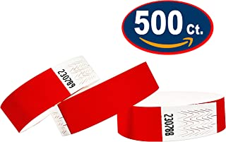 Tyvek Wristbands - 500 Pack - Neon Red - 3/4