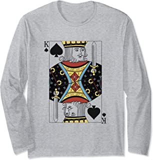 King of Spades - Playing Cards Easy Halloween Costume Long Sleeve T-Shirt