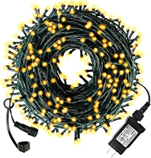 Diojilad LED Christmas Lights Outdoor Indoor Christmas Decoration Lights 105Ft 300LED UL Certified(4 Sets Connectable), 8 Modes Waterproof Fairy Lights for Christmas Tree, Wedding, Party(Warm White)