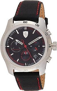 Ferrari Mens Quartz Watch, Analog Display and Nylon Strap 830444