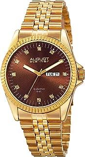August Steiner Men's Marquess Analogue Display Quartz Watch with Stainless Steel Bracelet
