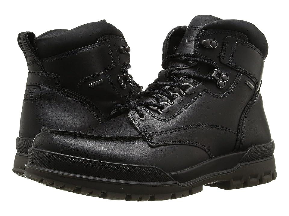 ECCO Track 6 GTX Moc Toe Boot (Black/Black) Men